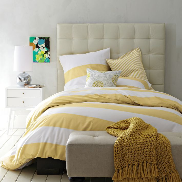 West Elm Stripes Love Yellow Stripes Grey Yellow Rooms And Duvet
