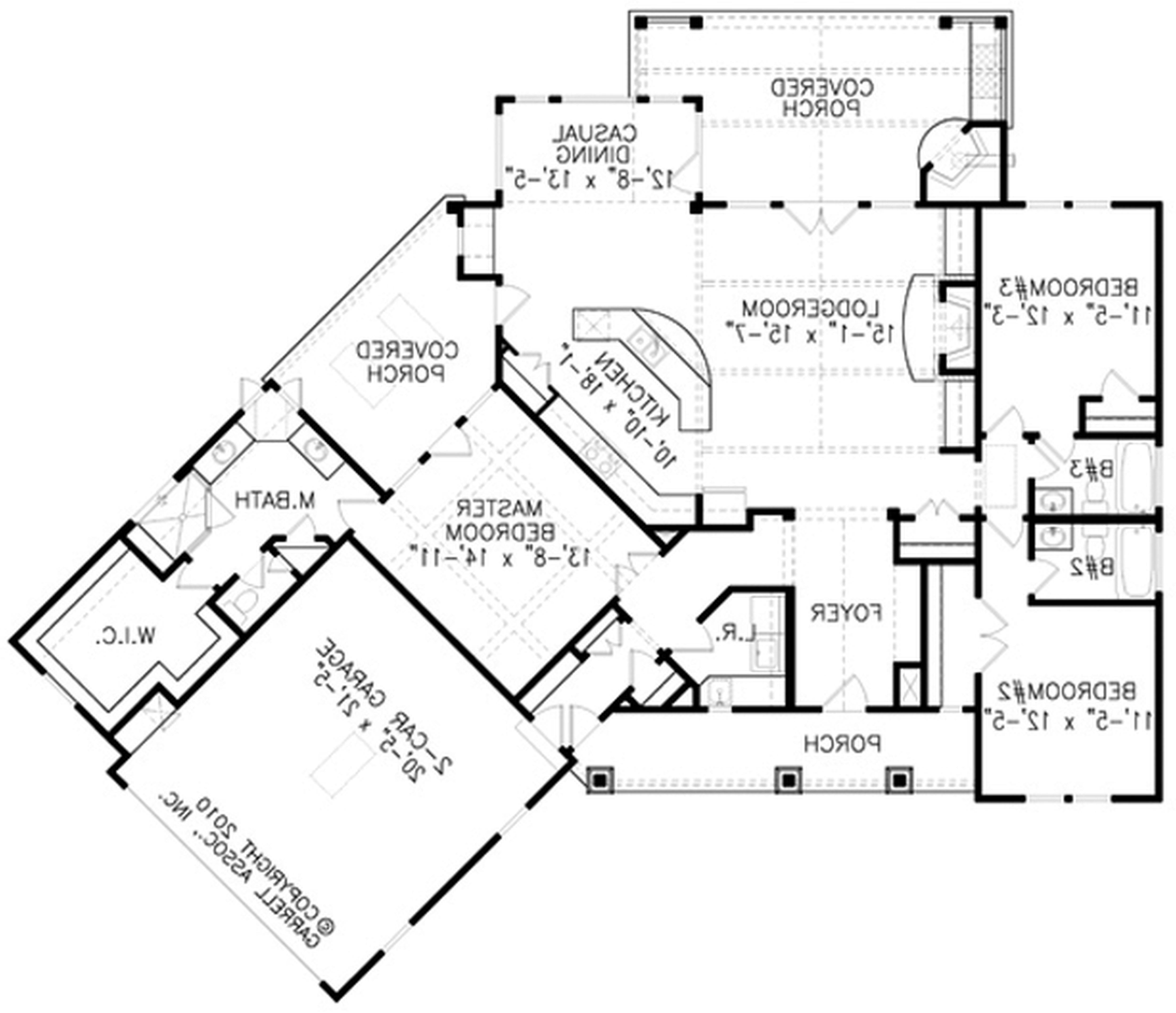 Architectural Design 3 Bedroom House In India