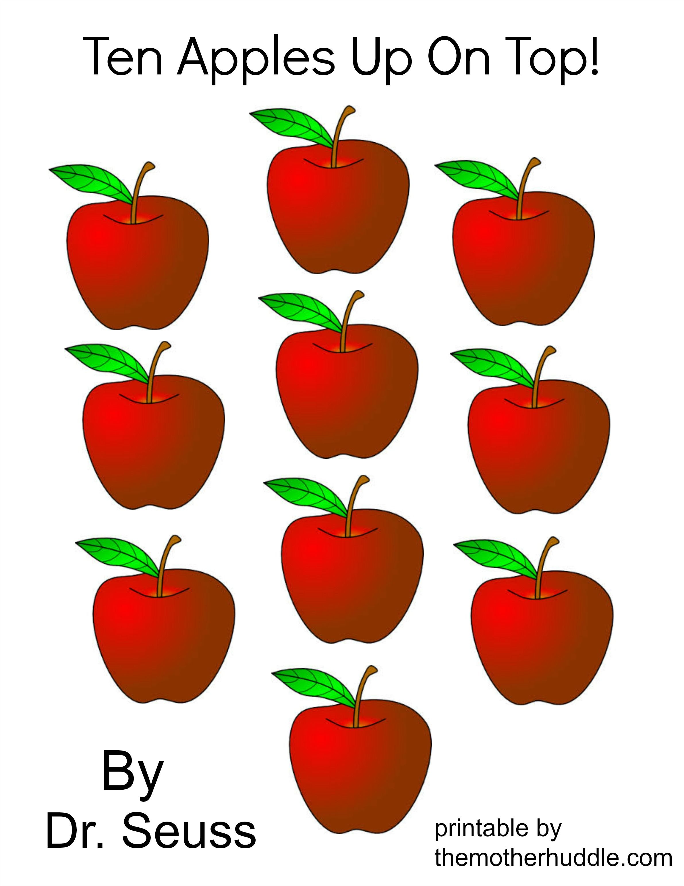 Dr Seuss March Series Ten Apples Up On Top Free Printable