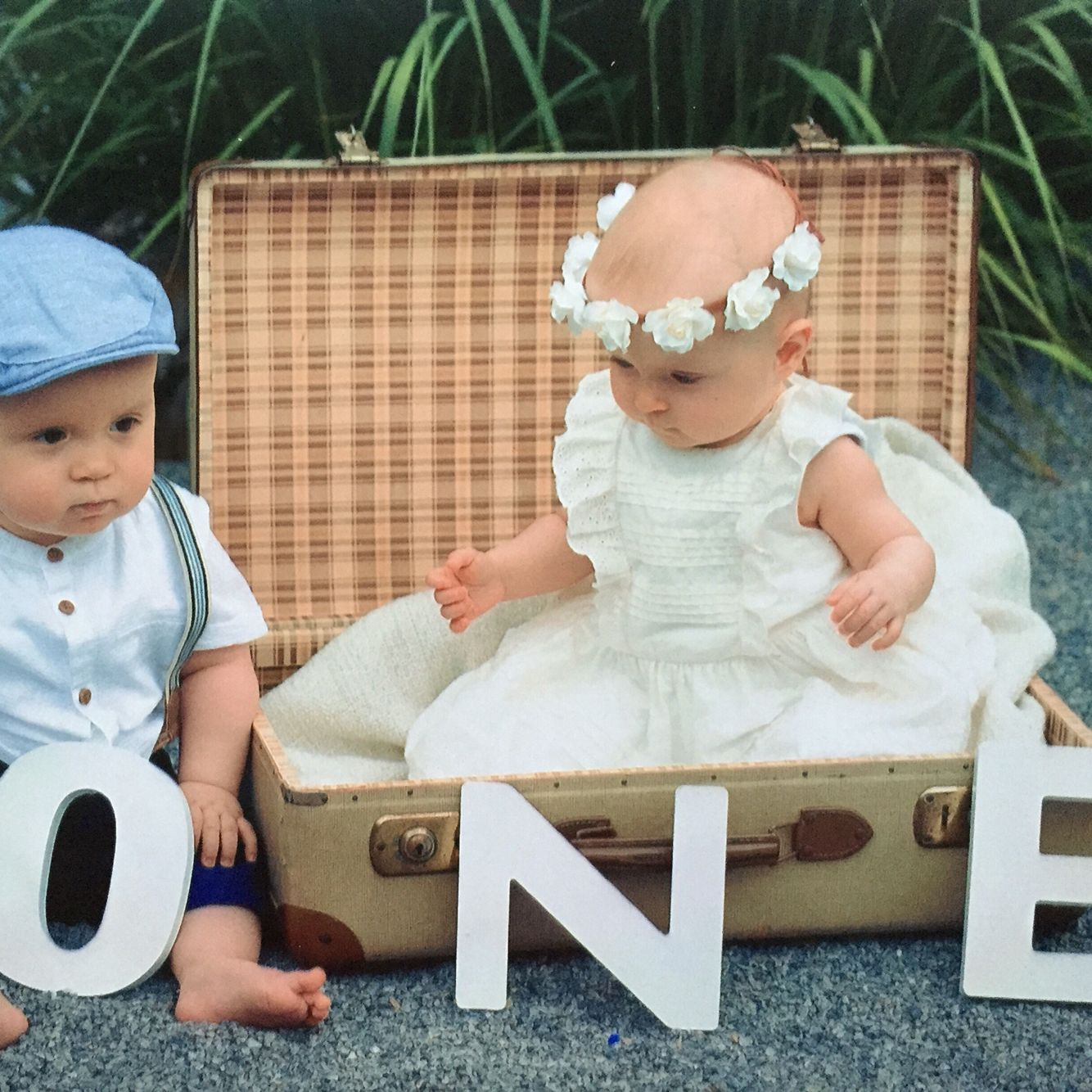 Twins Boy And Girl First Birthday