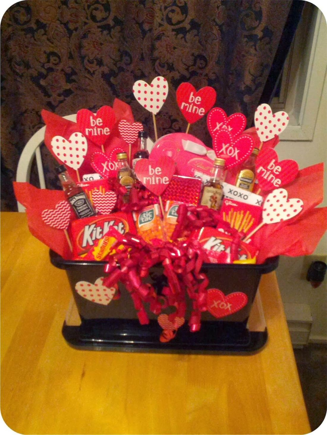 A valentines basket for him create your own custom gift