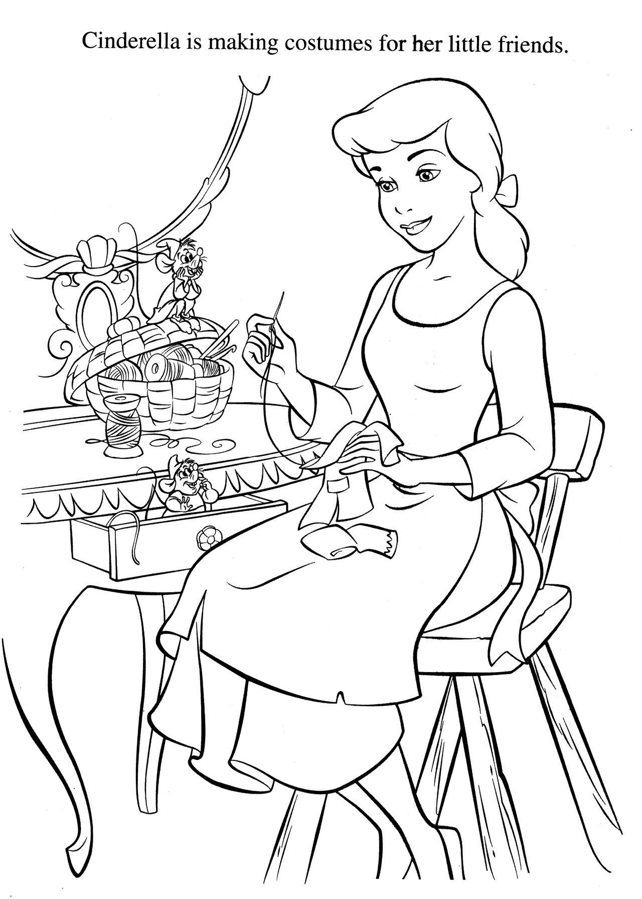 Cinderella, Coloring Pages Disney Coloring Pages
