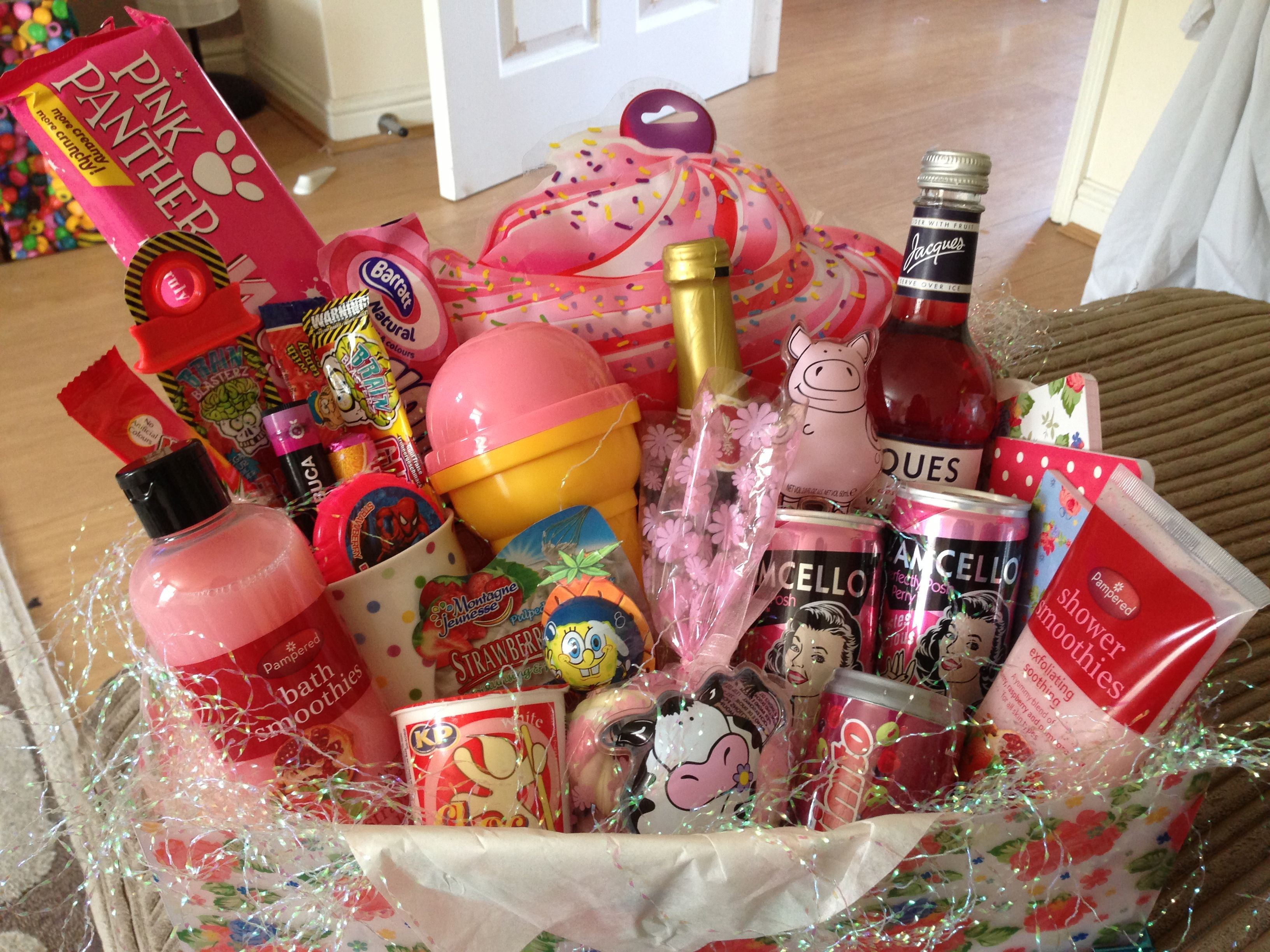 Girly hamper for girls night in! Given to a good friend