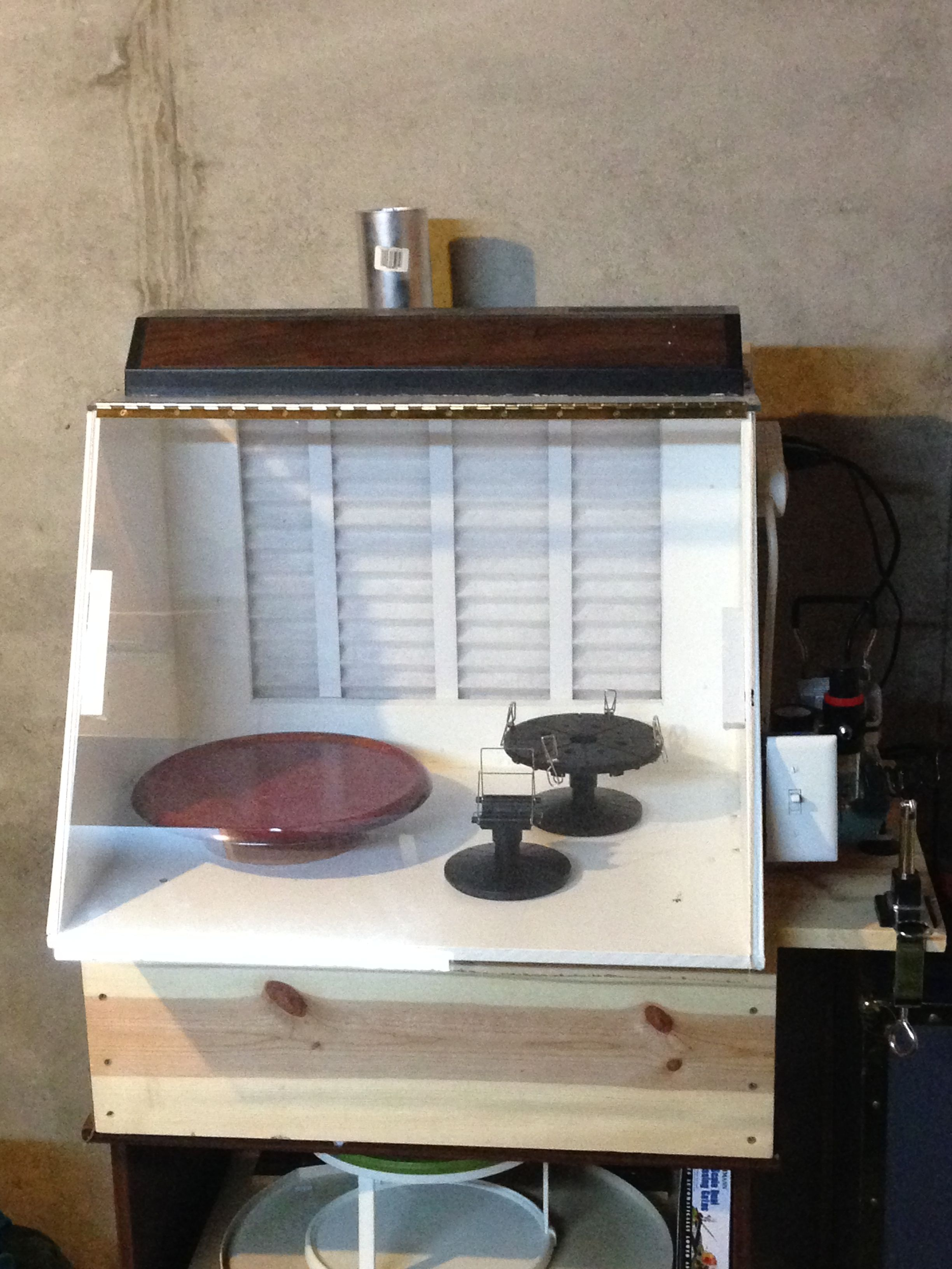 Custm paint booth Hobby benches, display cases and