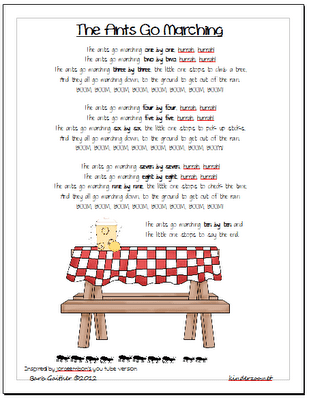 Wild and FreeThe Ants Go Marching poem Picnic theme