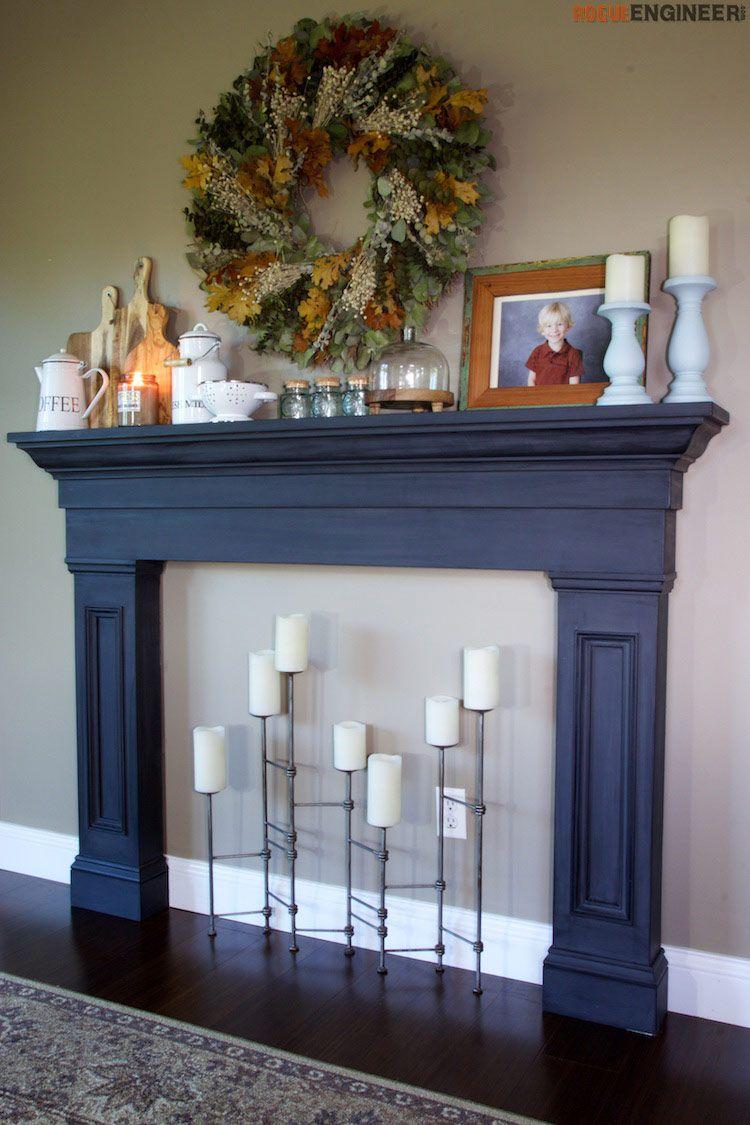 Faux Fireplace Mantel Surround Faux fireplace, Fireplace