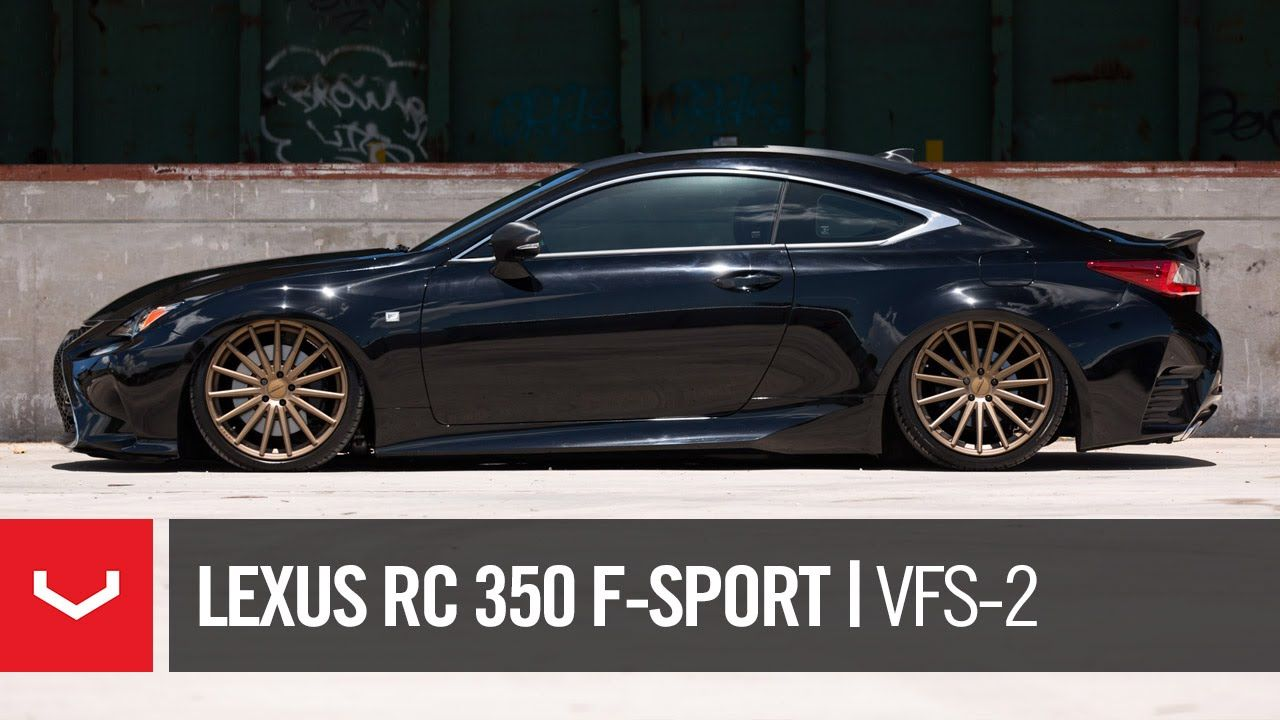 "Lexus RC 350 FSport ""Black & Bronze"" Vossen VFS2"