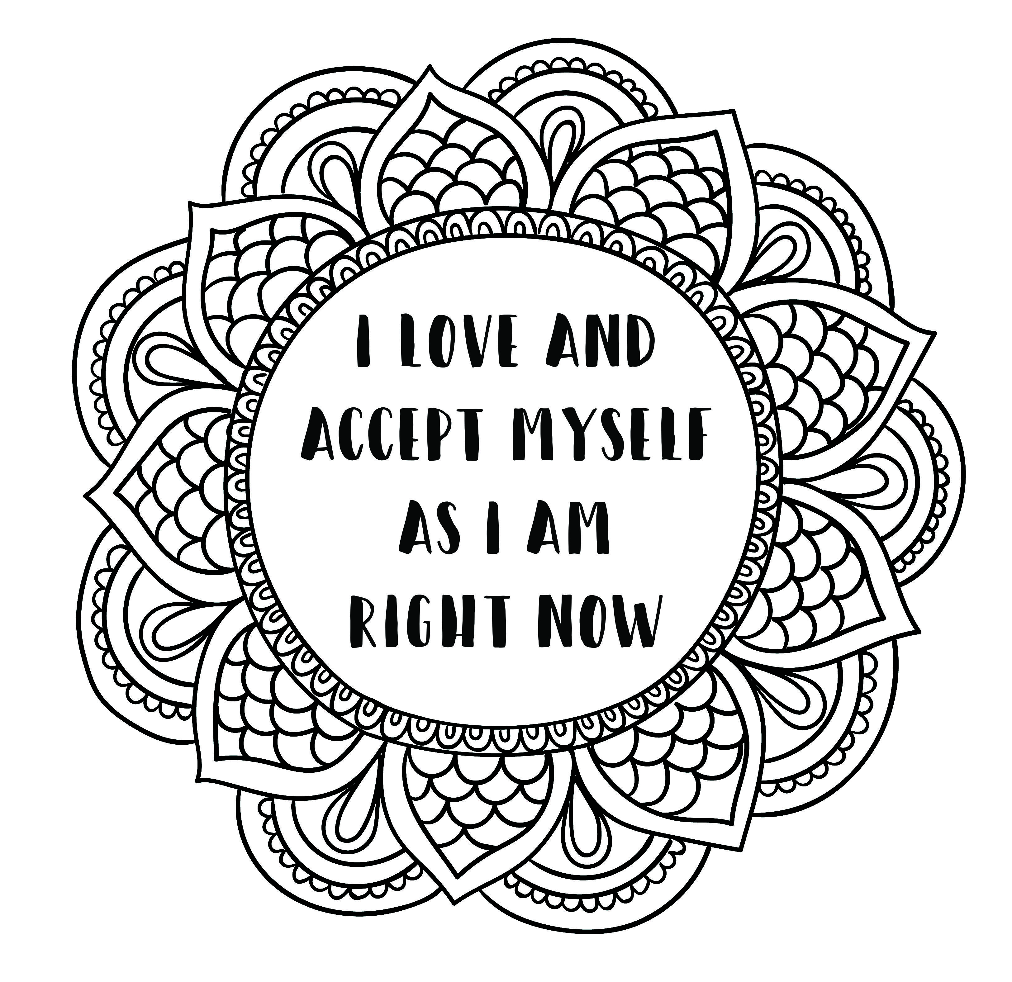 Self Talk Positive Coloring Sheets Coloring Pages