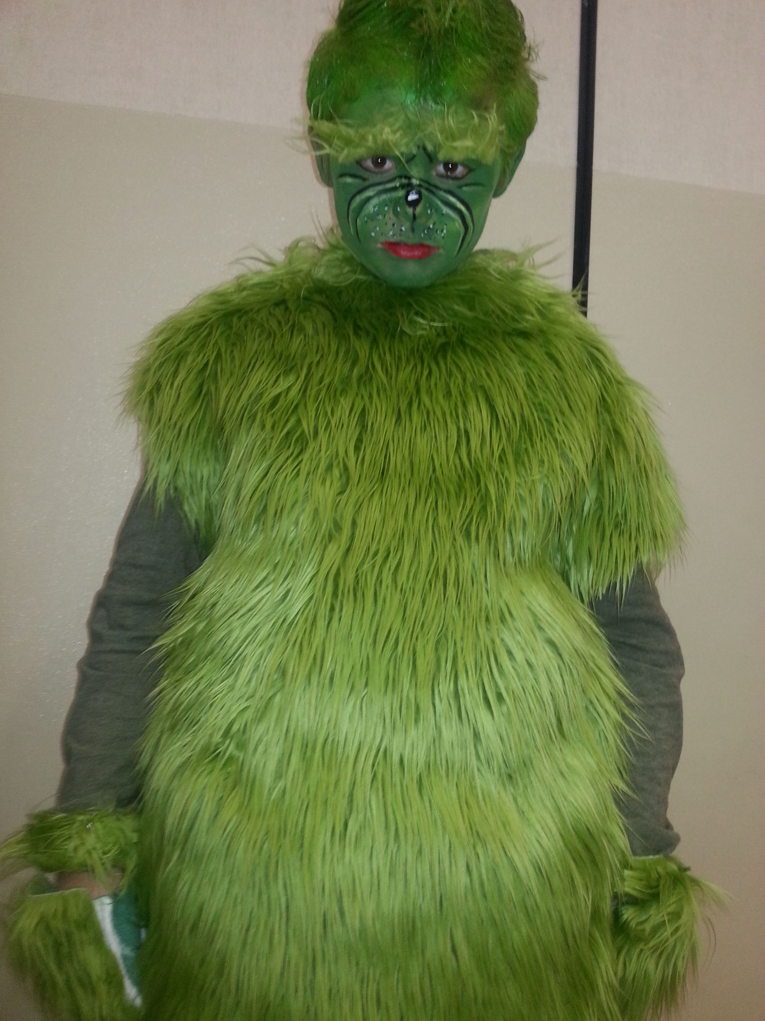 The Makings of A Grinch Costume First Try Grinch Costume