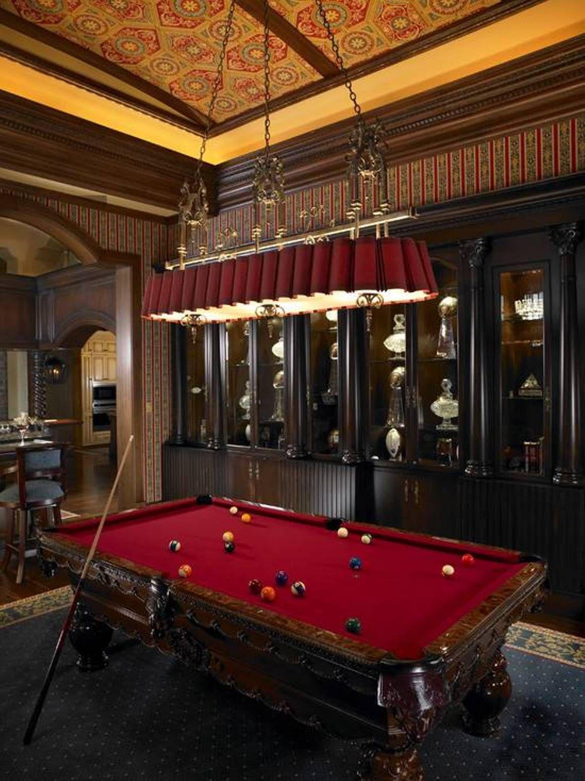 Home Design and Decor , Classic Billiard Design Room