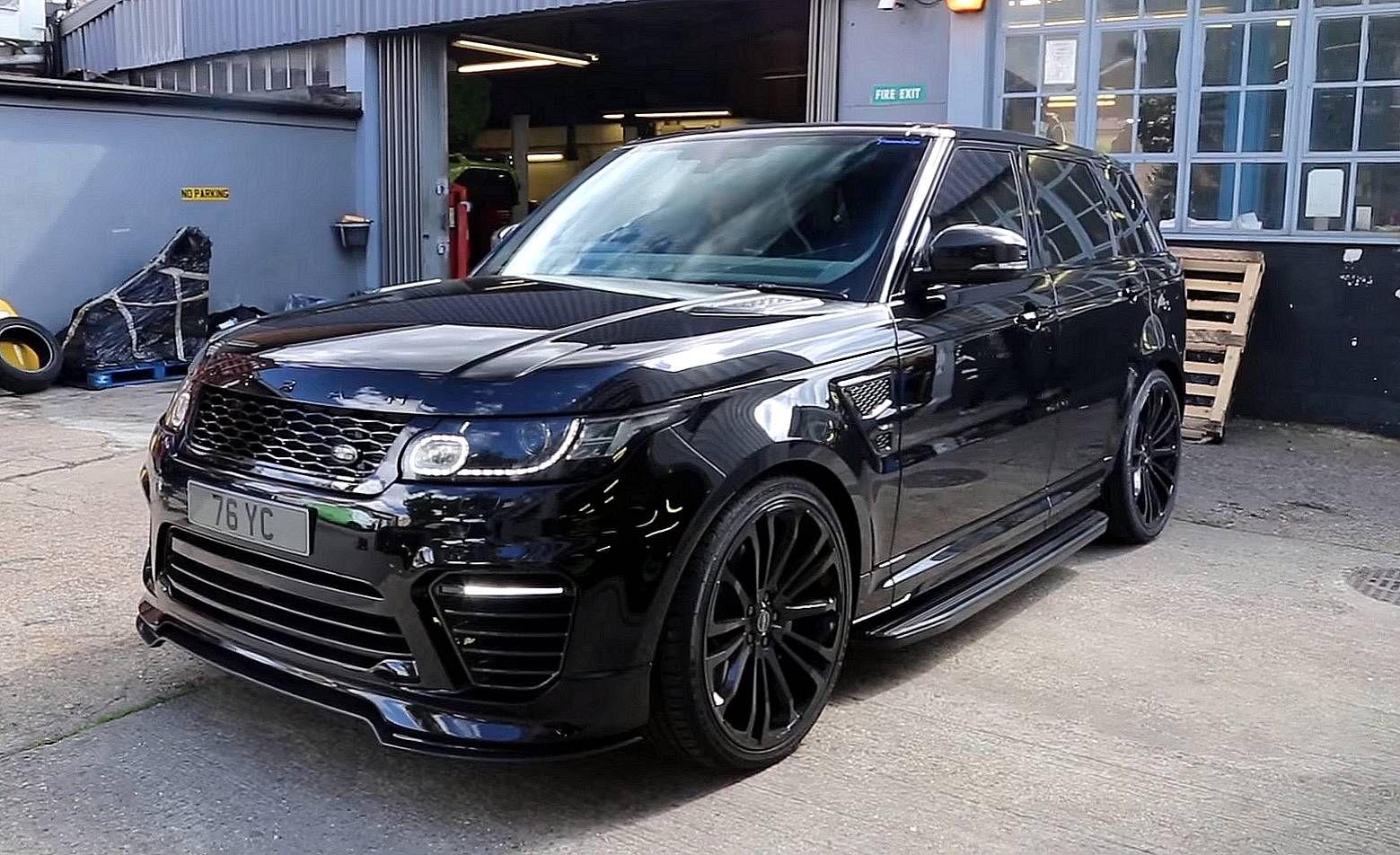 Black Range Rover SVR With Carbon Details, SAVAGE! Range