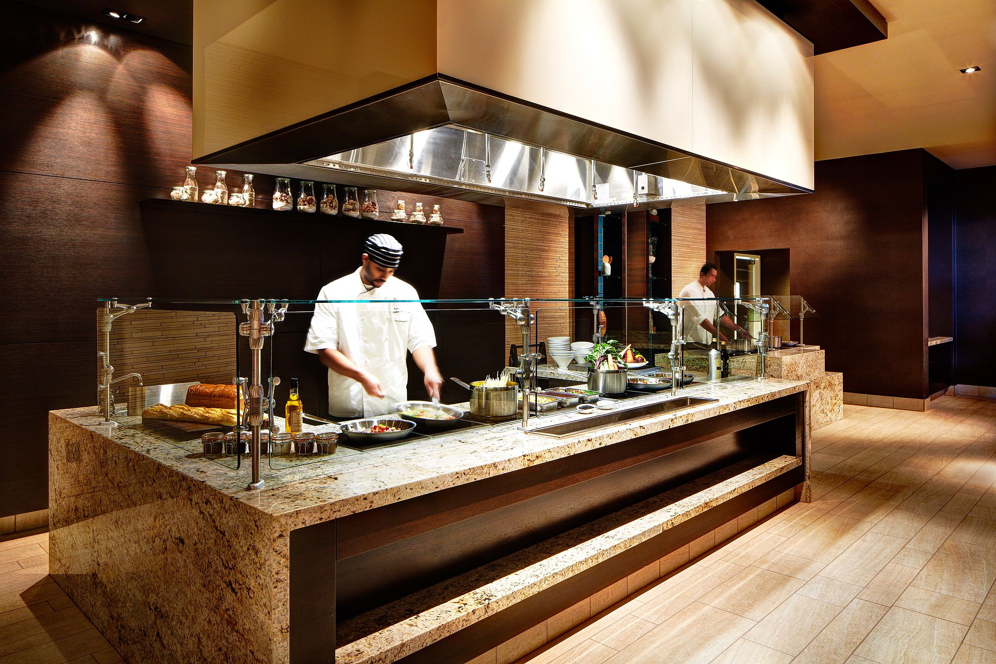 Our buffet station! SanDiego Dining Restaurant Hotel