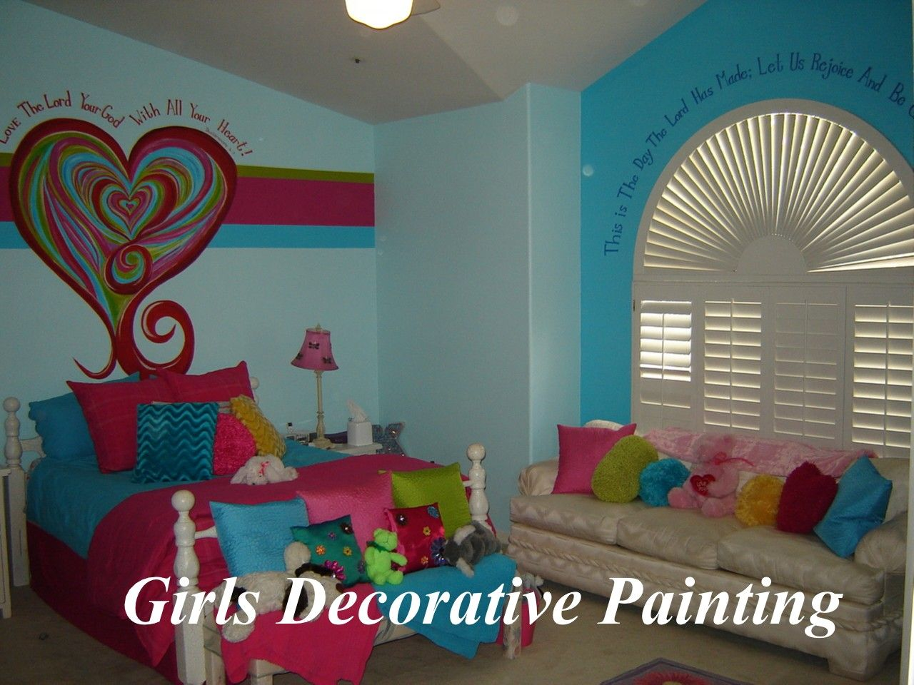 Girls Decorative Wall Painting: Painting Stripes On Walls