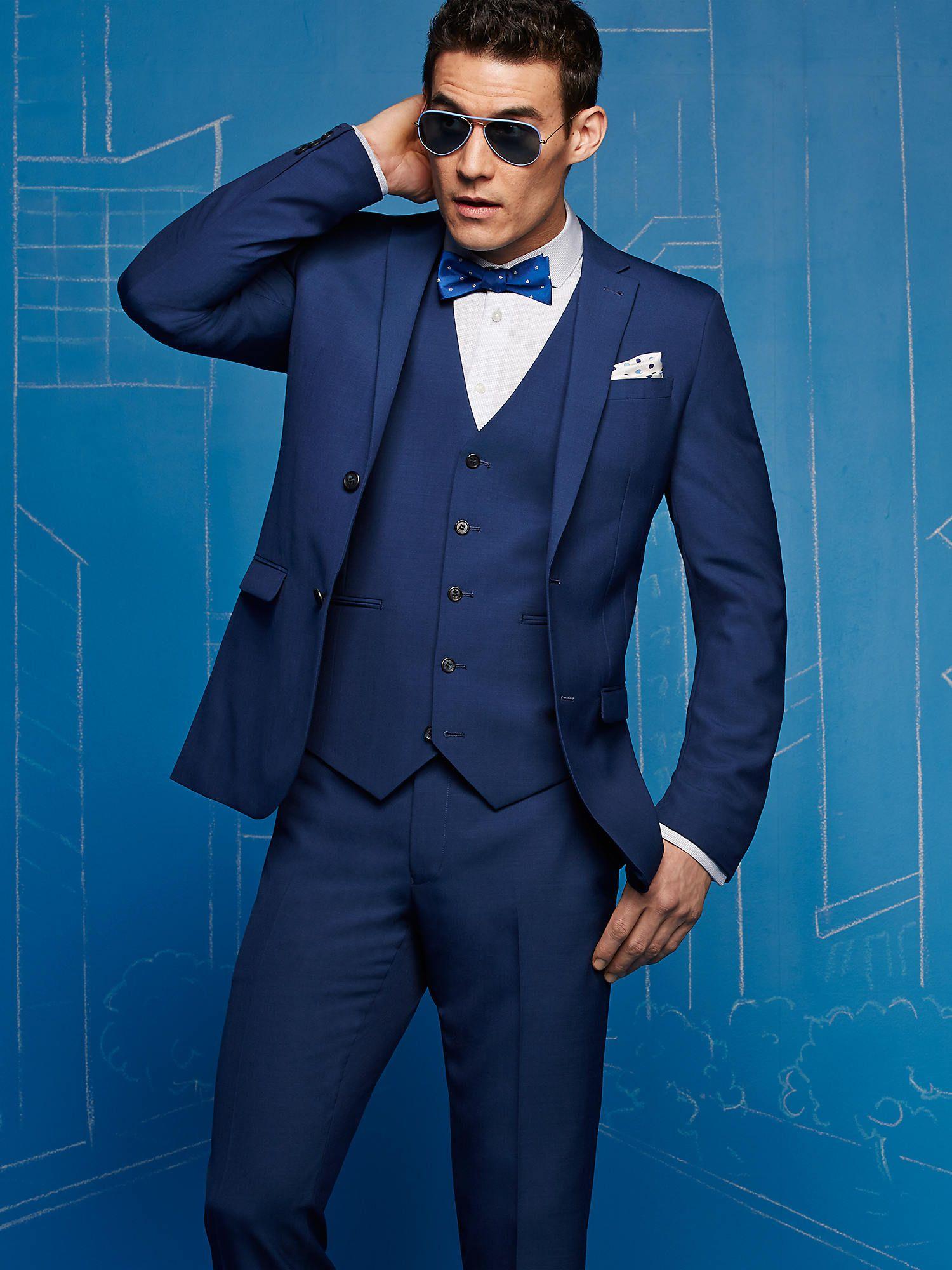 EGARA BLUE VESTED EXTREME SLIM FIT SUIT, Men's Wearhouse