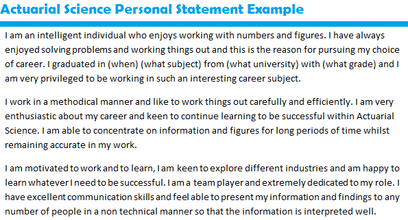 How To Write A Personal Statement Cv Examples