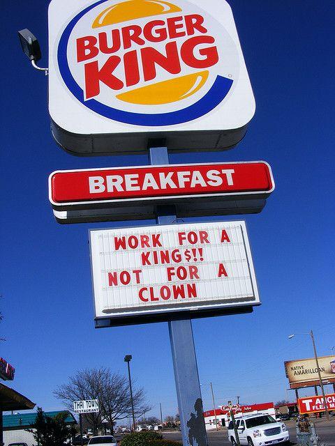 burger king work