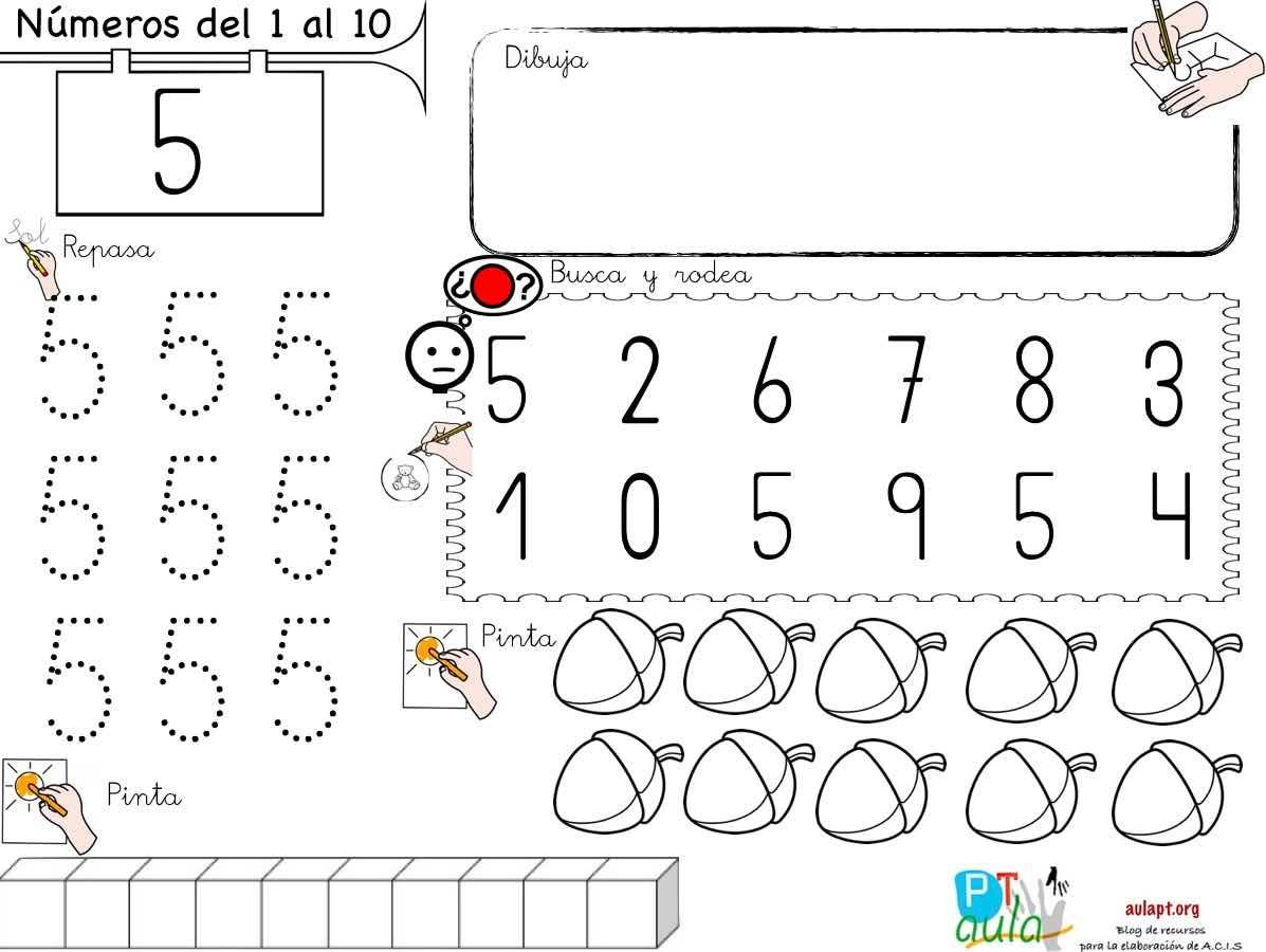 Grafia Regletas Asociacion Reconocimiento Visual Todo En Uno Para Trabajar Los Numeros Hasta