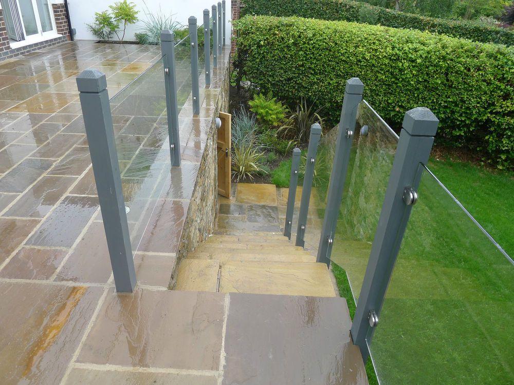acrylic railing panels exterior Google Search Backyard
