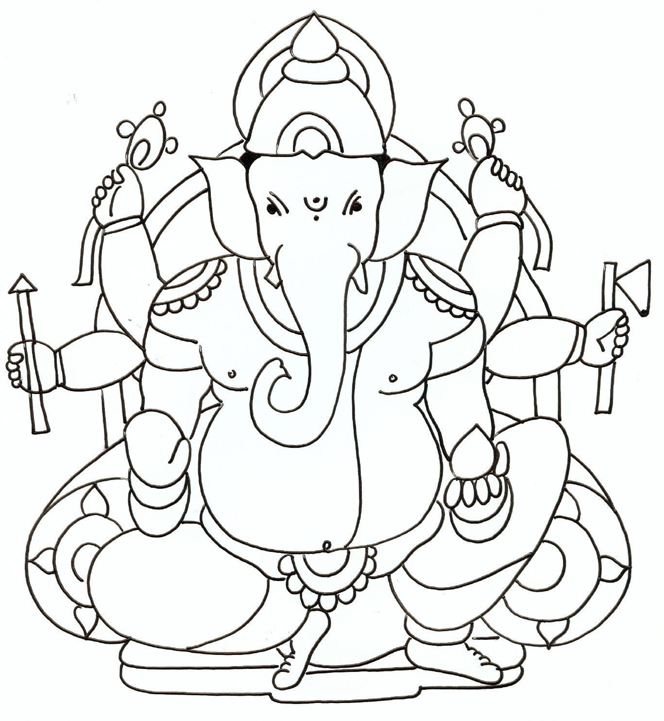 Ganesh Drawings For Kids