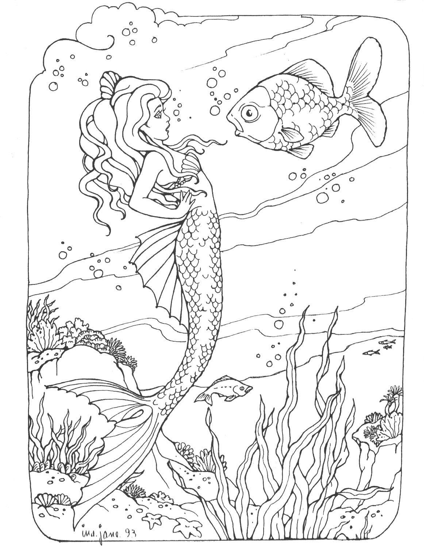 mermaid coloring mermaids and coloring on pinterest