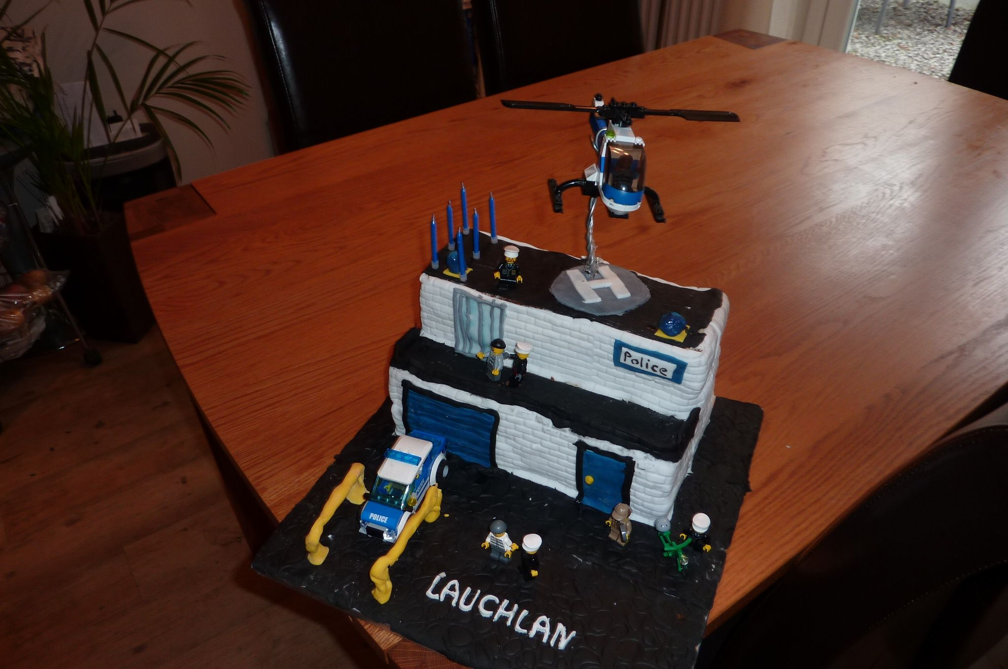 Made My Son A Lego Police Cake For His 6th Birthday