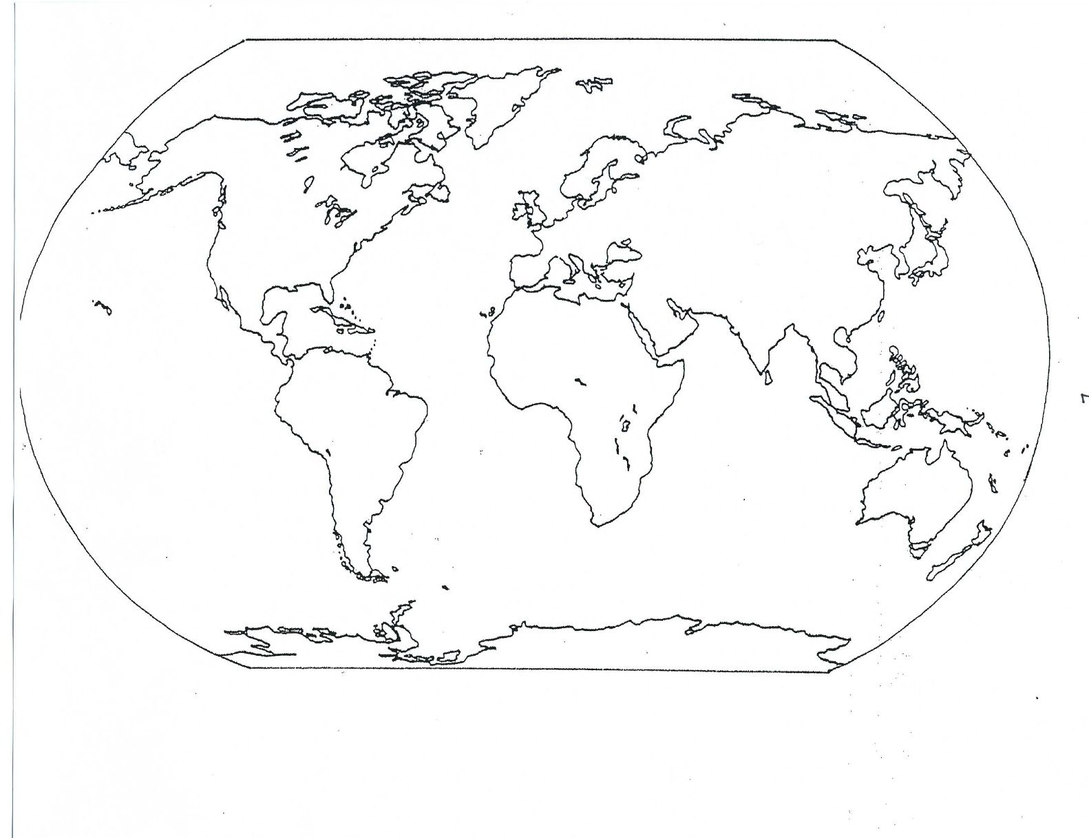 Blank Seven Continents Map