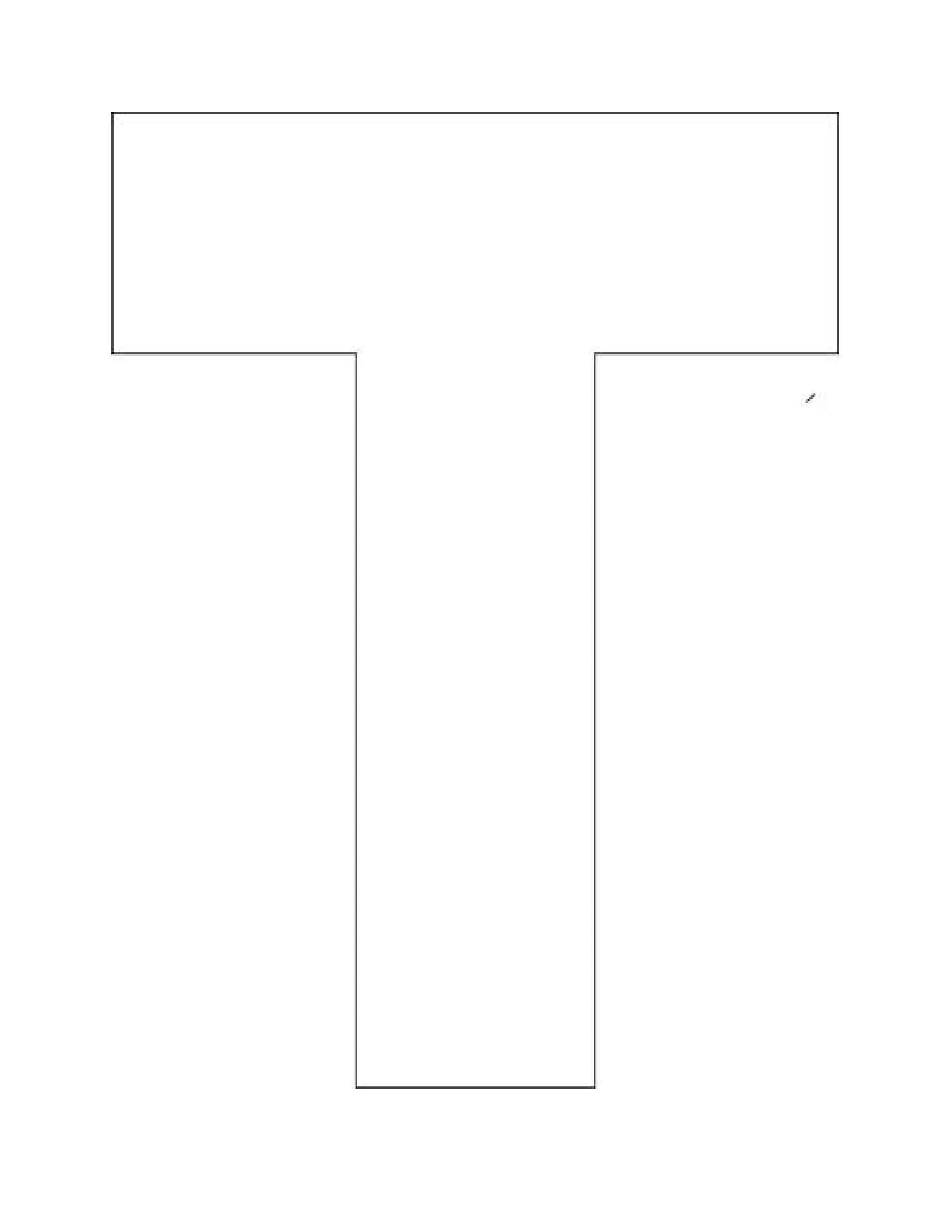 Printable Alphabet Letter T Template Alphabet Letter T
