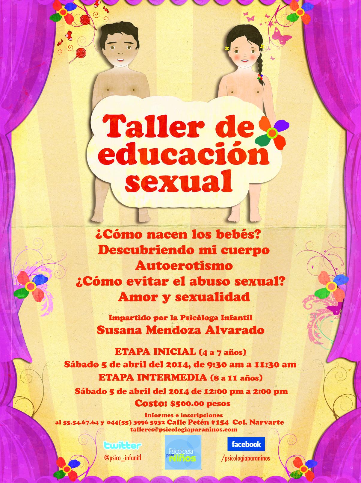 ¡Los invitamos al taller de educación sexual para niños de