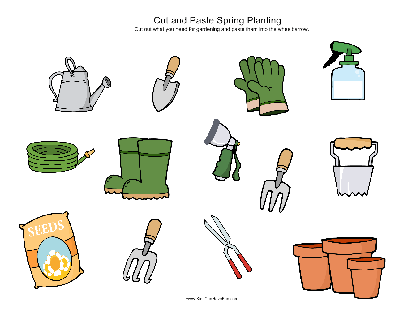 Cut And Paste Spring Gardening Page0 1 319 1 019 Pixels