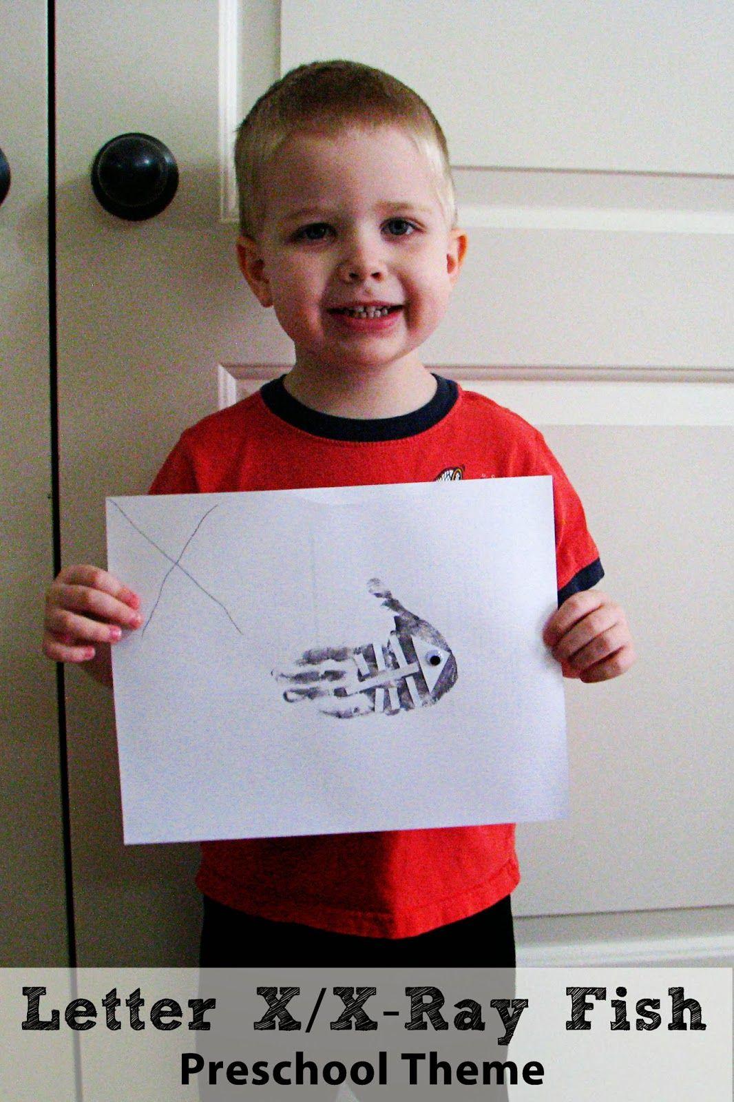 Letter X X Ray Fish Preschool Theme Mommy S Little Helper