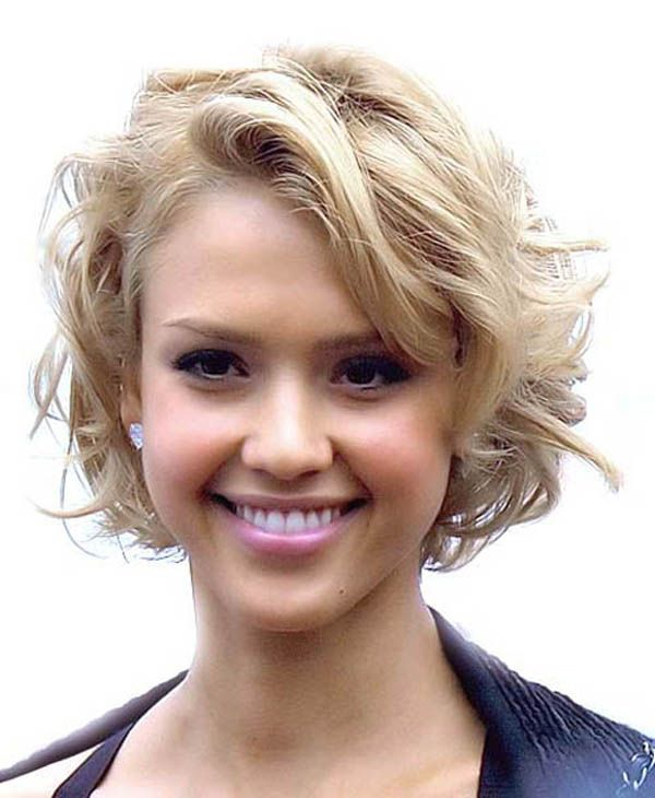 Curly Hairstyles Cute Prom With Bangs For Short Blonde Hair Women Long Faces 9 Image Of