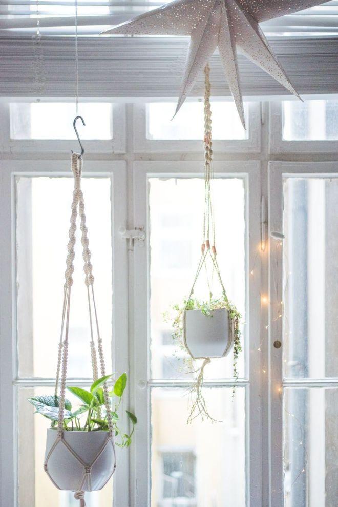 Easy homediy macrame plant hanger tutorial macrame