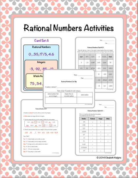 Rational Numbers Activities Rational numbers, Number