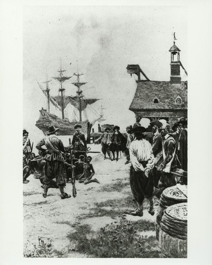 Slaves Arriving at Jamestown, 1619, by Howard Pyle
