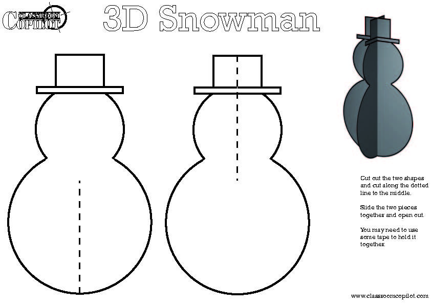 image result for snowman cut out template christmas pinterest