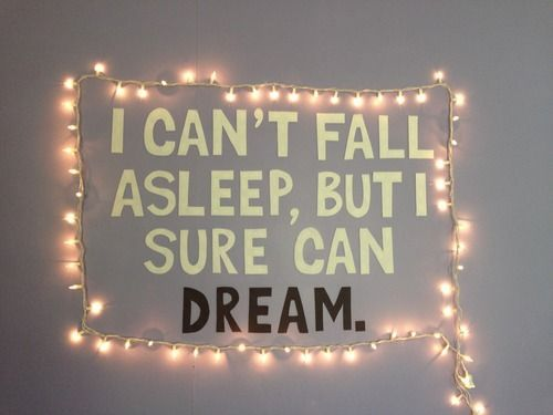 Tumblr Rooms Diy Wall Quote And Lights