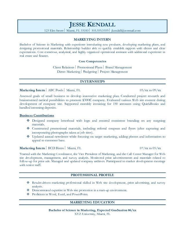 For Resume Objective. Things To List On A Resumes Template
