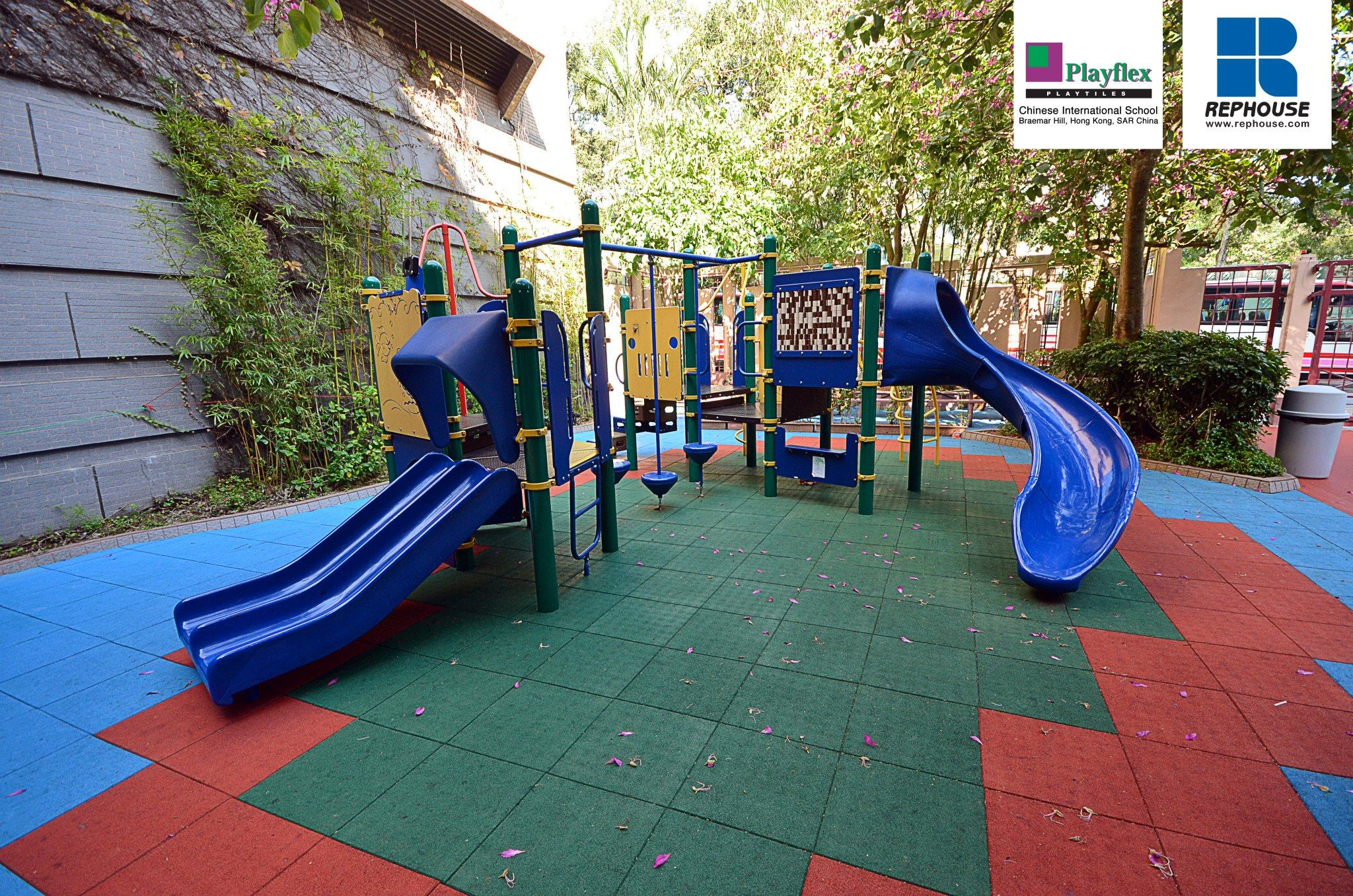 Playflex Royal Playground Safety Tiles Chinese
