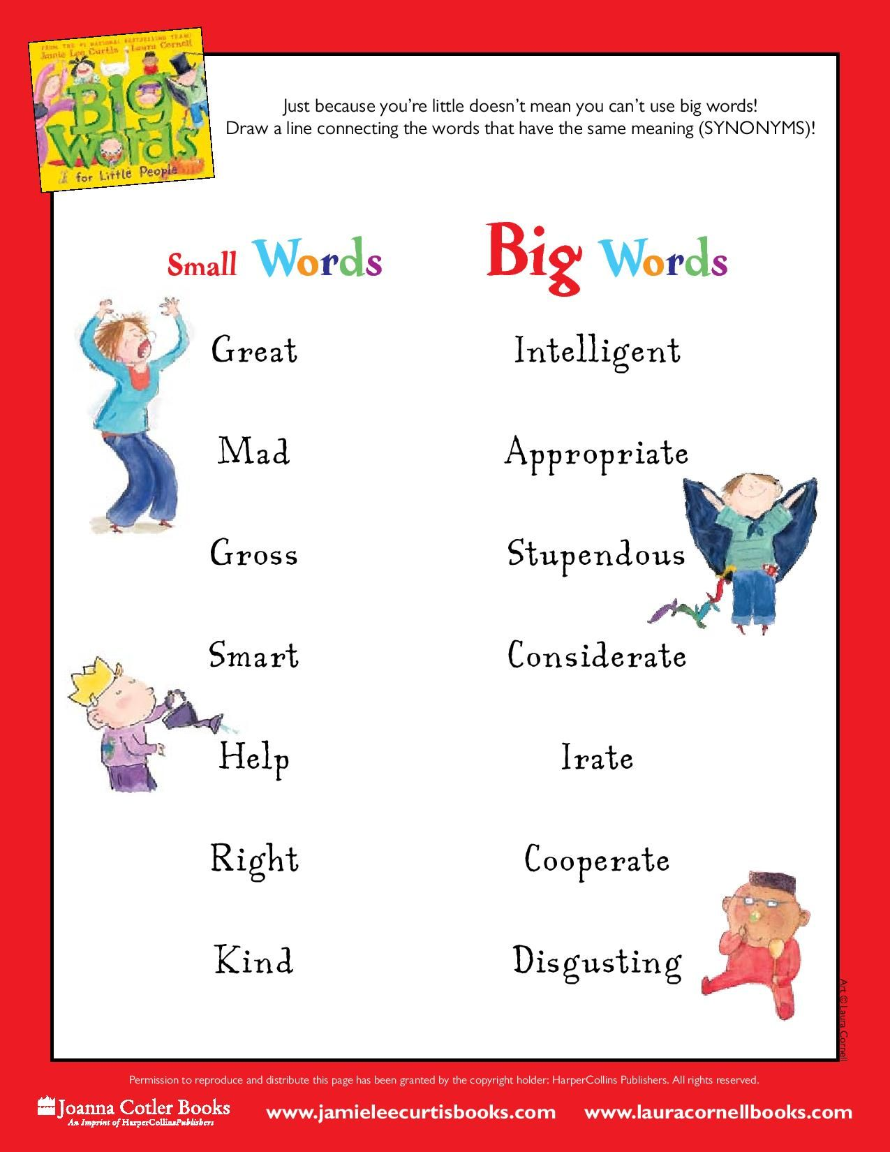 Big Words For Little People Just Because You Re Little Doesn T Mean You Can T Use Big Words