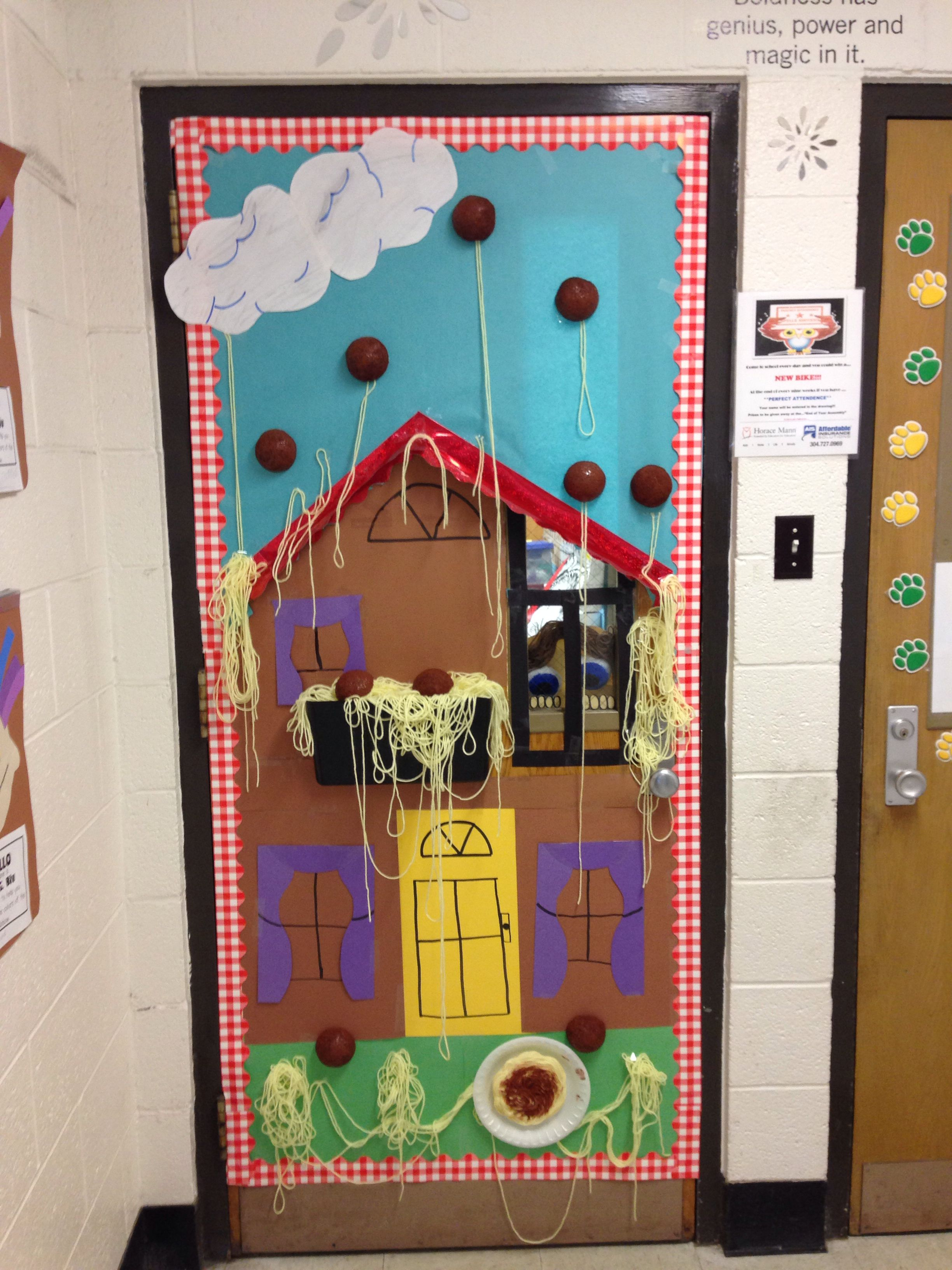 My Classroom Door For Cloudy With A Chance Of Meatballs