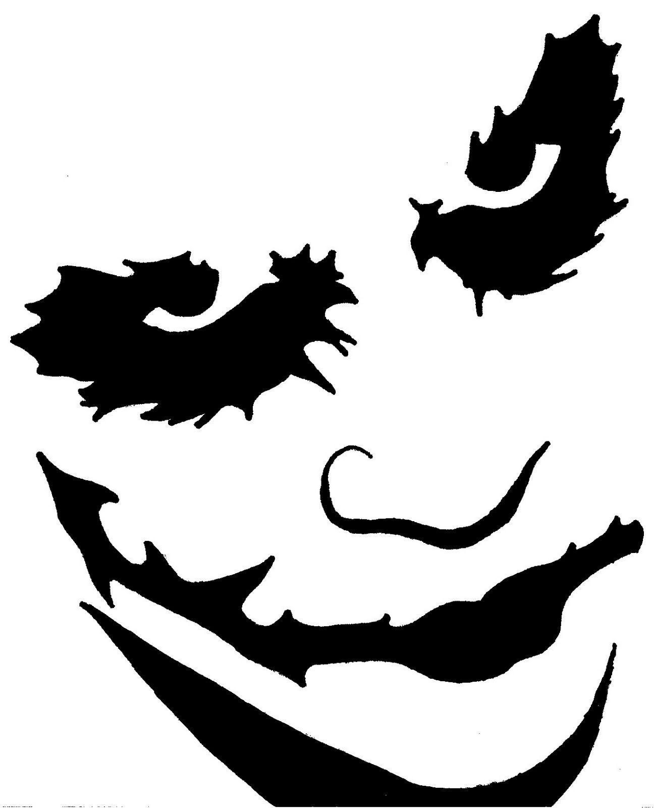 Pumpkin Carving Templates Heath Ledger As The Joker