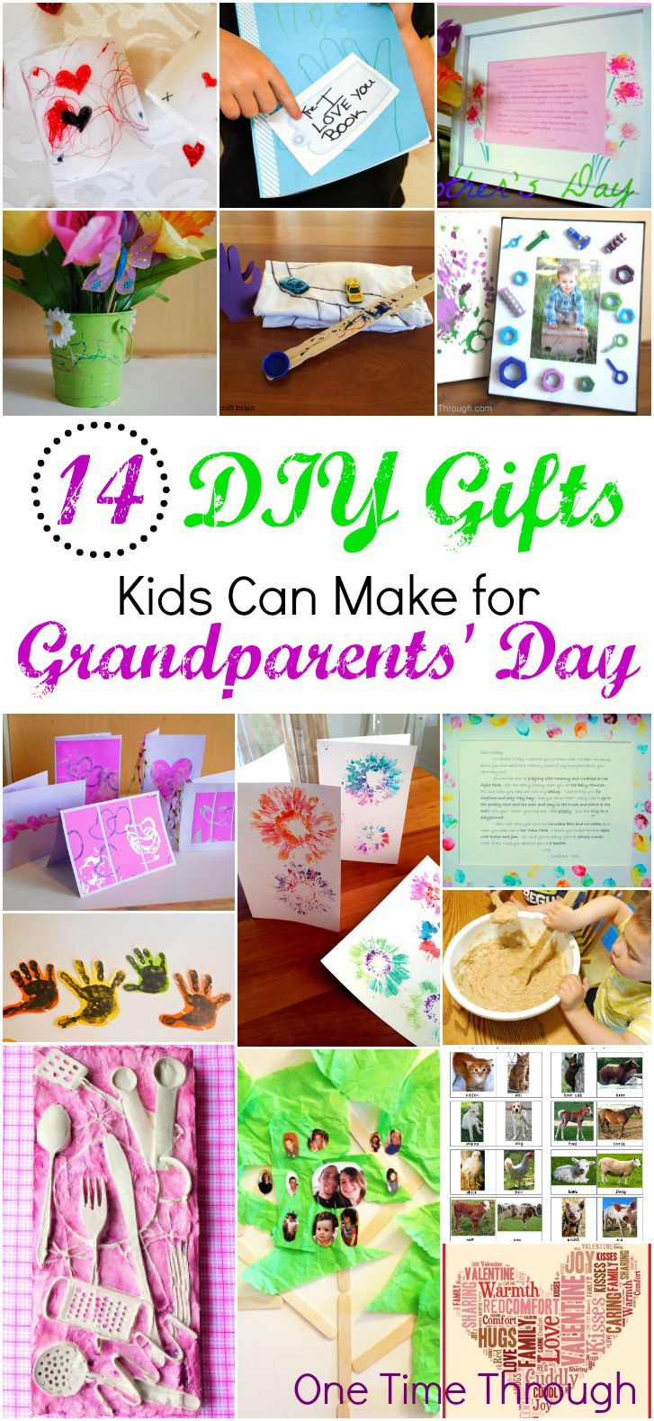 14+ DIY Gifts for Grandparents Day Grandparents, Gift