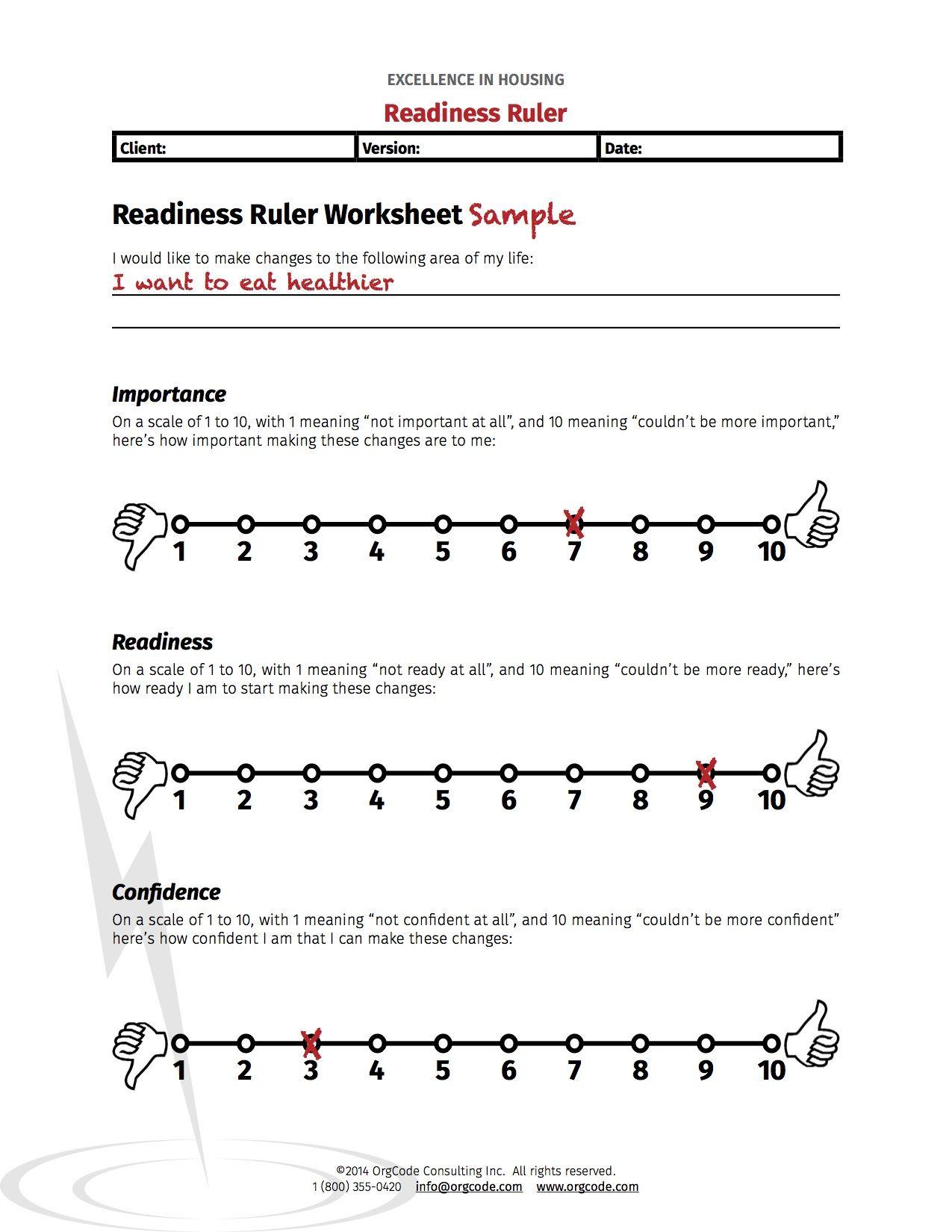 Image Result For Motivational Interviewing Worksheets