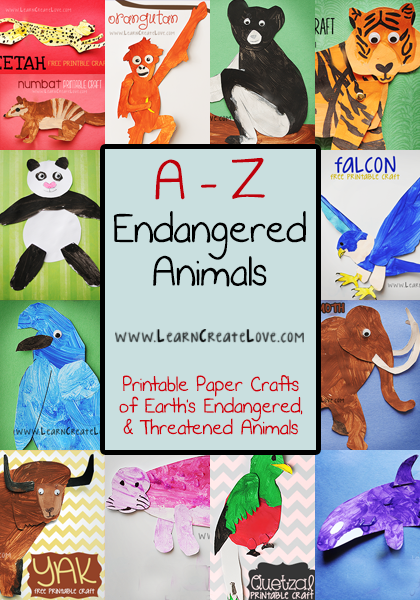 AZ Endangered Animal Crafts