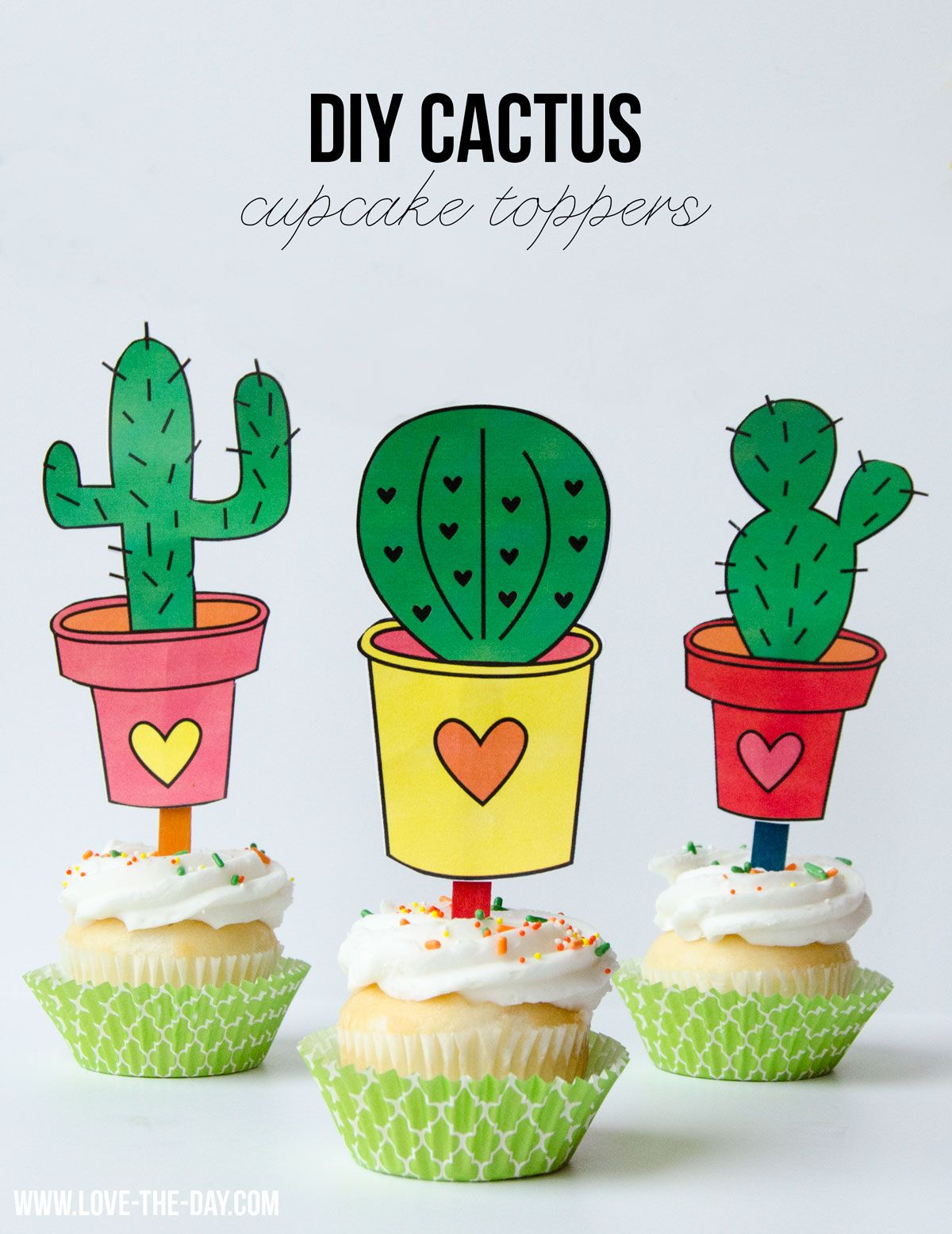 Cinco De Mayo Printables Free Cactus Toppers By Lindi Haws Of Love The Day