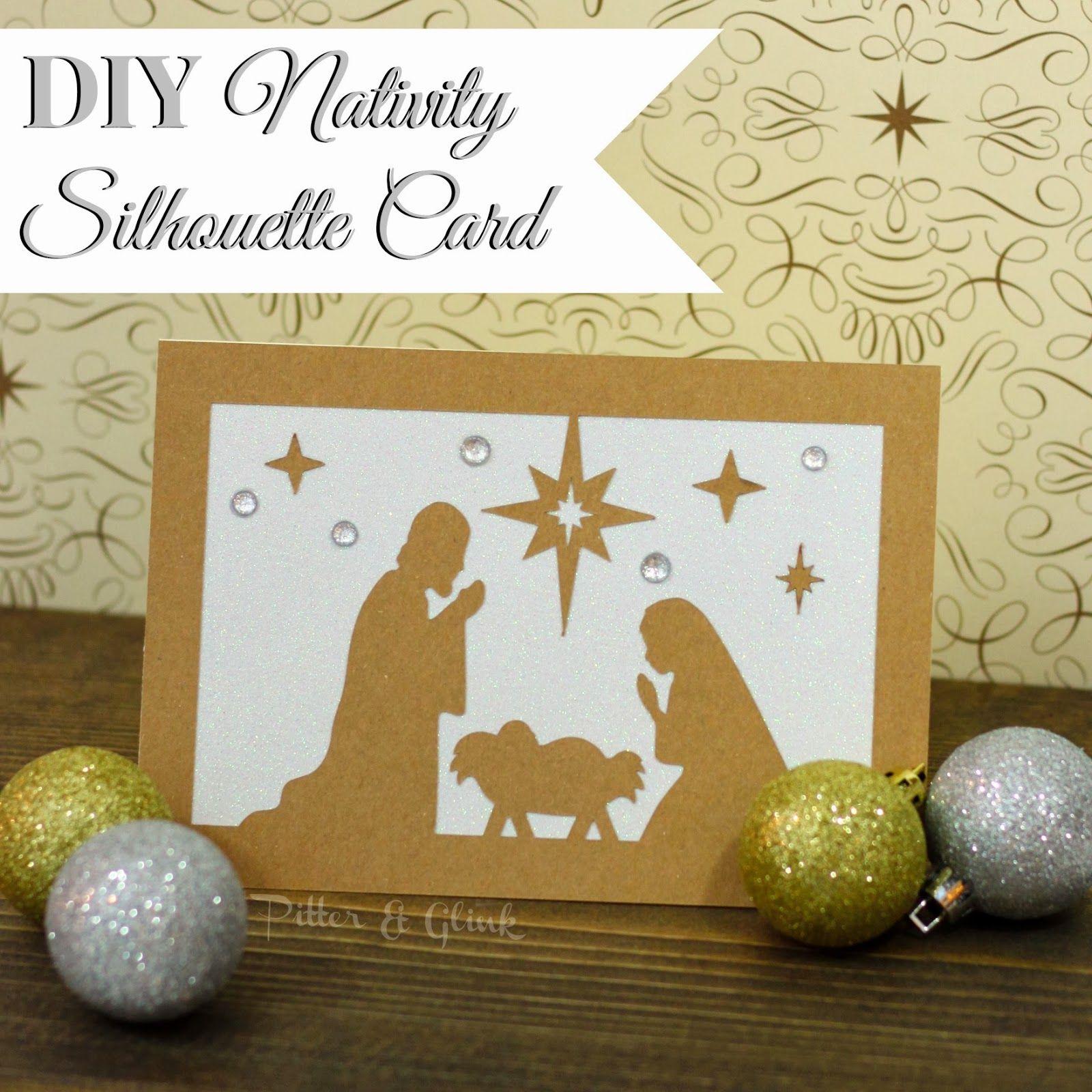 xmas card baby jesus DIY Nativity Silhouette Christmas