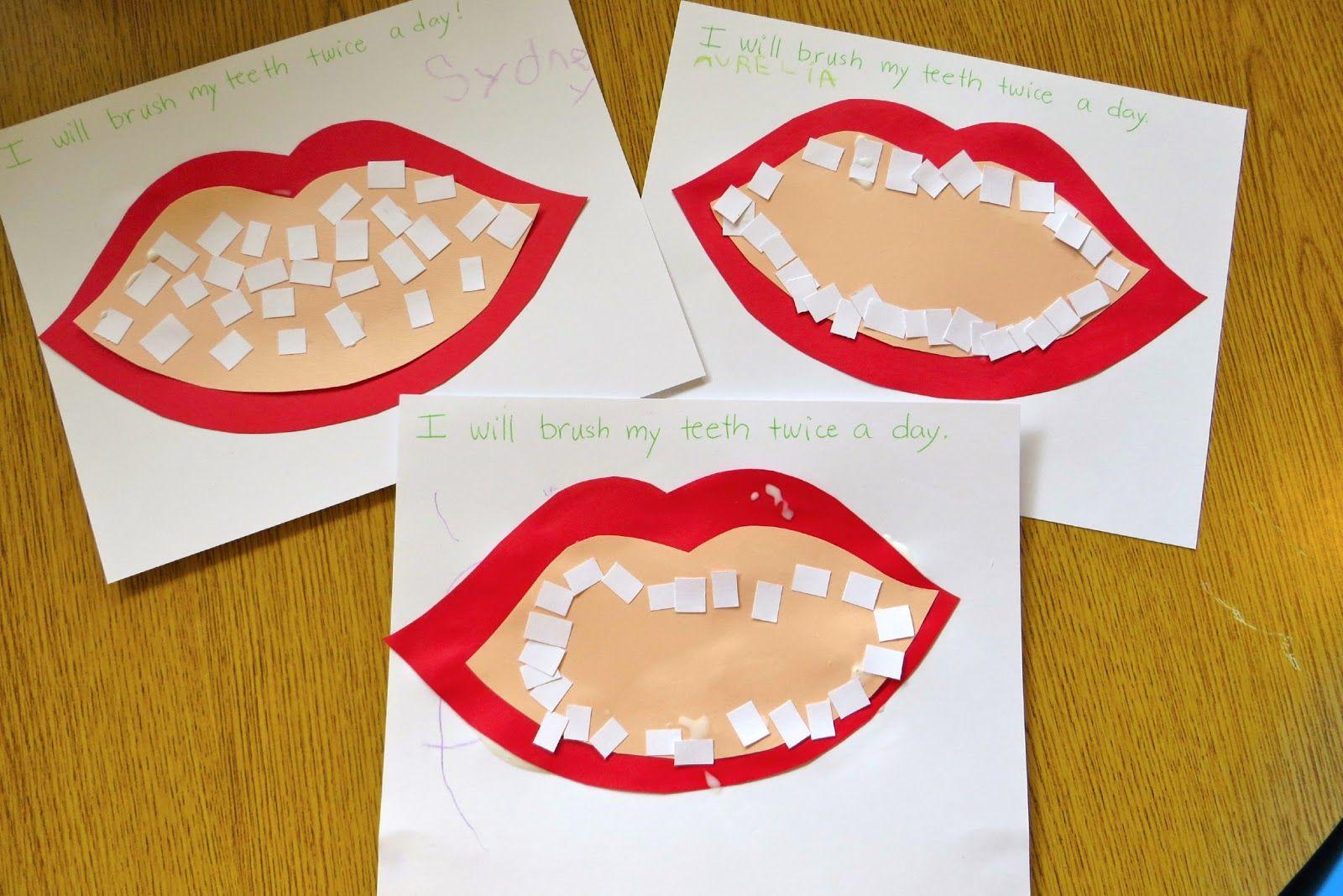 Preschool Tooth Brushing Activities
