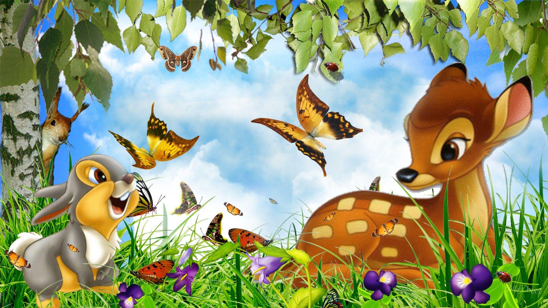 Bunnies and butterflies Wallpapers Benny Gold Thumper