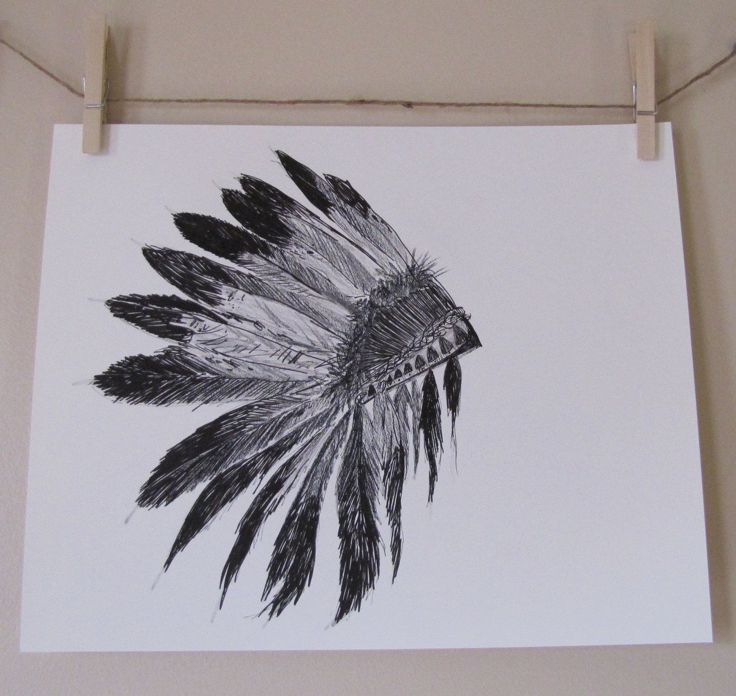 11x14, one of a kind, OOAK, indian headdress, thanksgiving