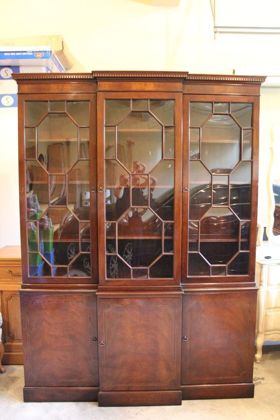 1940s Bubble Glass China Cabinet For The Home